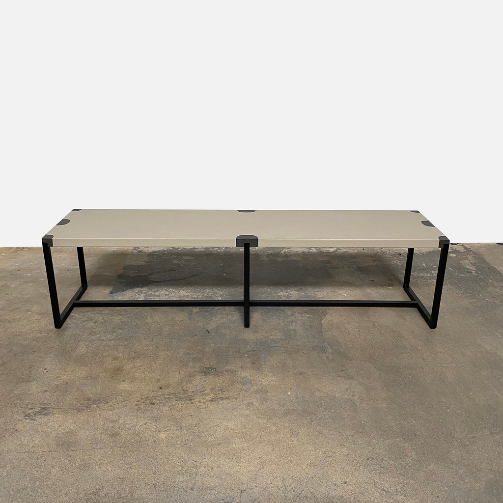 Leather Covered Bench, Bench - Modern Resale