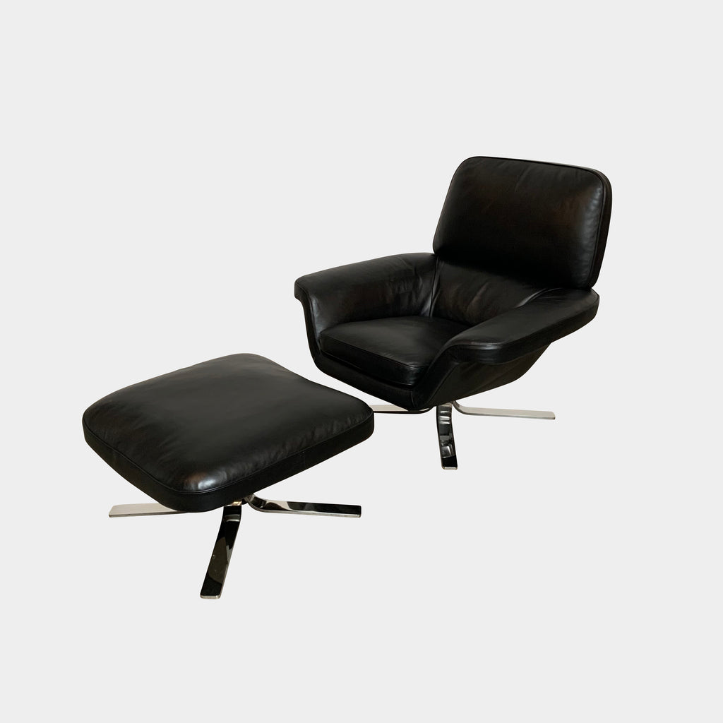 Blake Lounge Chair & Ottoman, Chair & Ottoman - Modern Resale