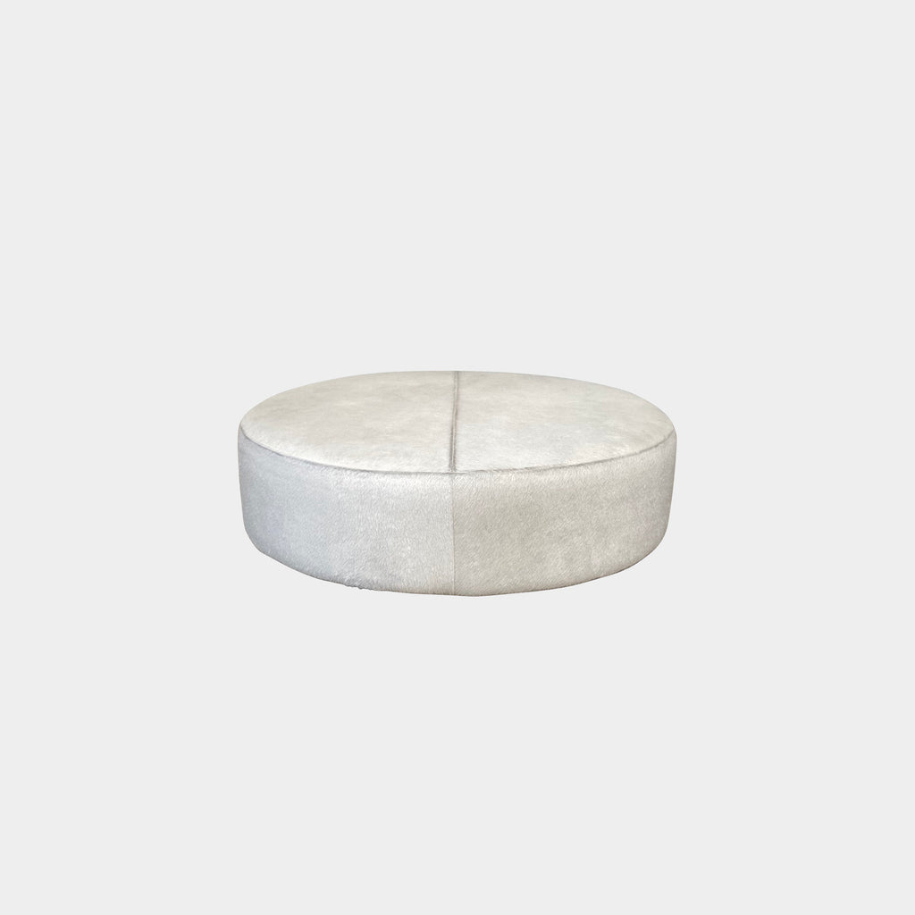 Harry Large Pony Hide Ottoman - Modern Resale