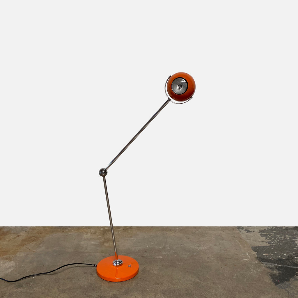 Orange Floor Lamp, Floor Lamp - Modern Resale
