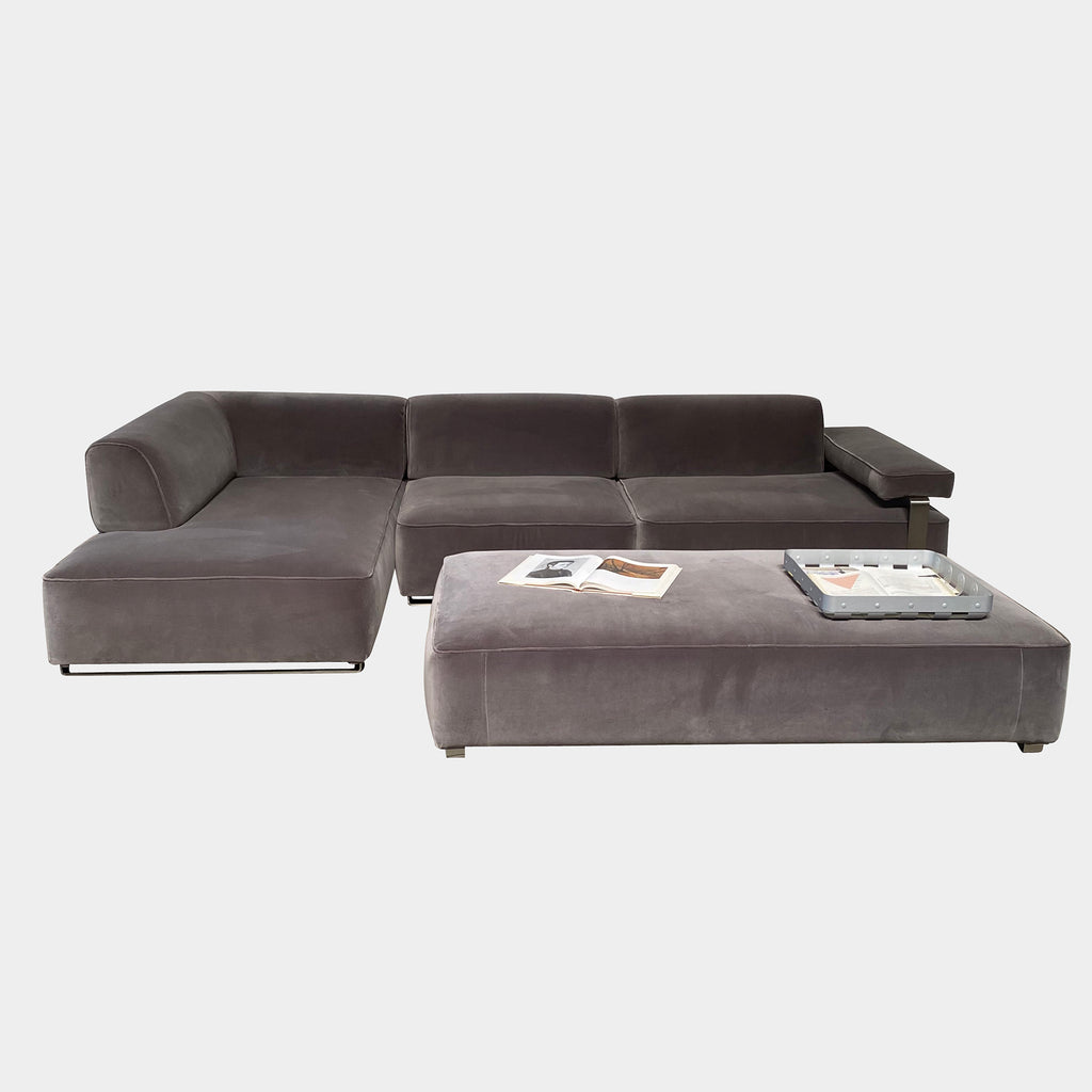Cannes Left-Chaise Sectional + Ottoman - Modern Resale