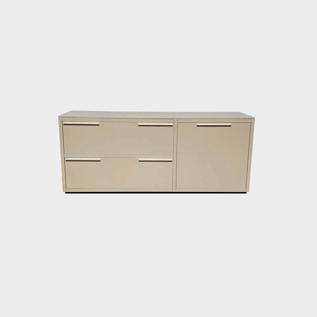 Poliform Filing Cabinet.  The mundane task of filing is elevated with this chic minimal piece produced by Italian case goods brand Poliform