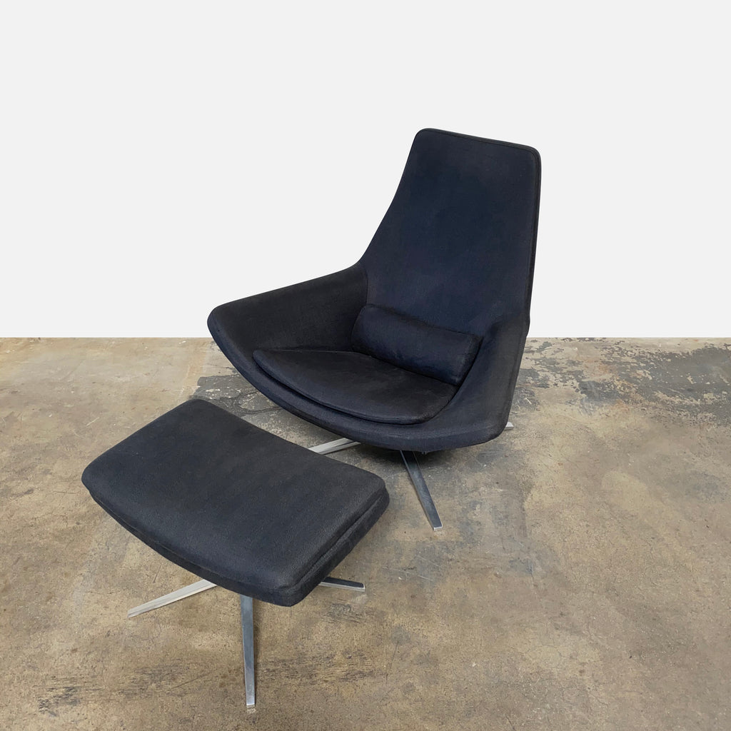 Metropolitan Chair & Ottoman Set, Chair & Ottoman - Modern Resale
