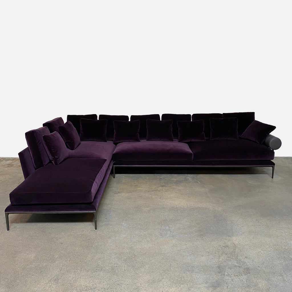 Picture of: B B Italia Purple Atoll Sectional By Antonio Citterio La Modern Resale