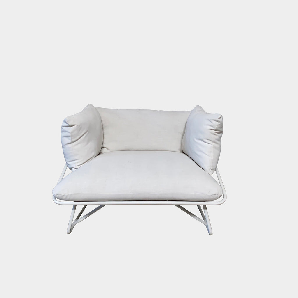 CB2 X Fred Segal White 'Pool Party' Chairs