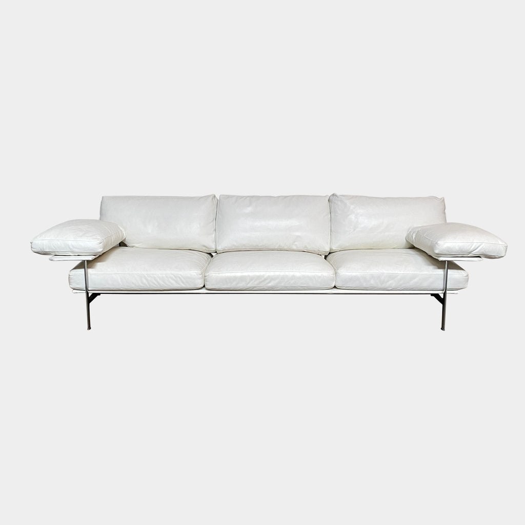 Diesis White Leather Sofa, Sofa - Modern Resale