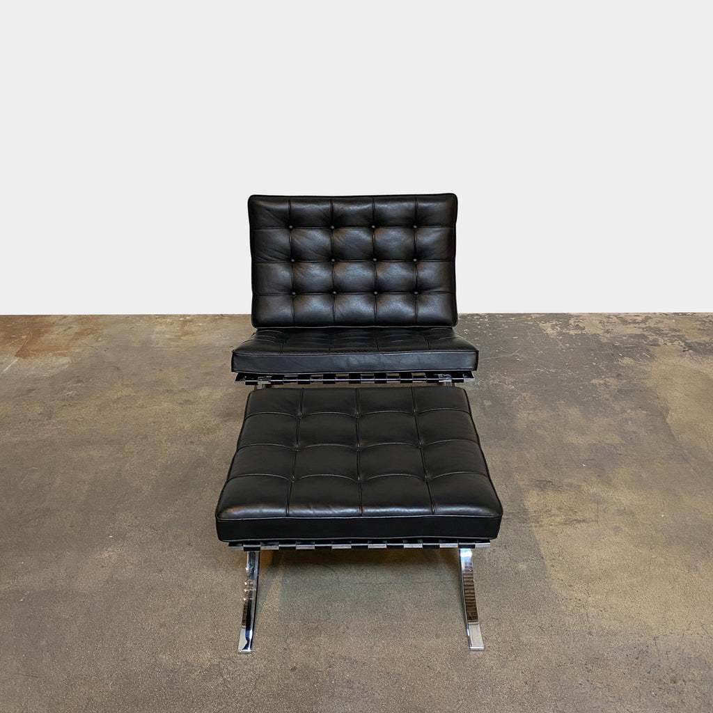 Barcelona Lounge Chair & Ottoman, Chair & Ottoman - Modern Resale