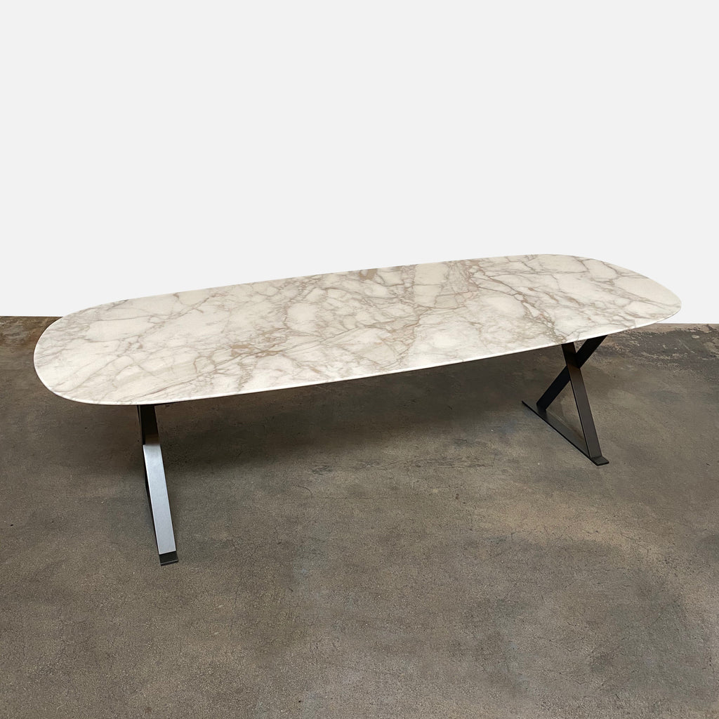 Maxalto 'Pathos' White Marble Dining Table by Antonio Citterio, 2011