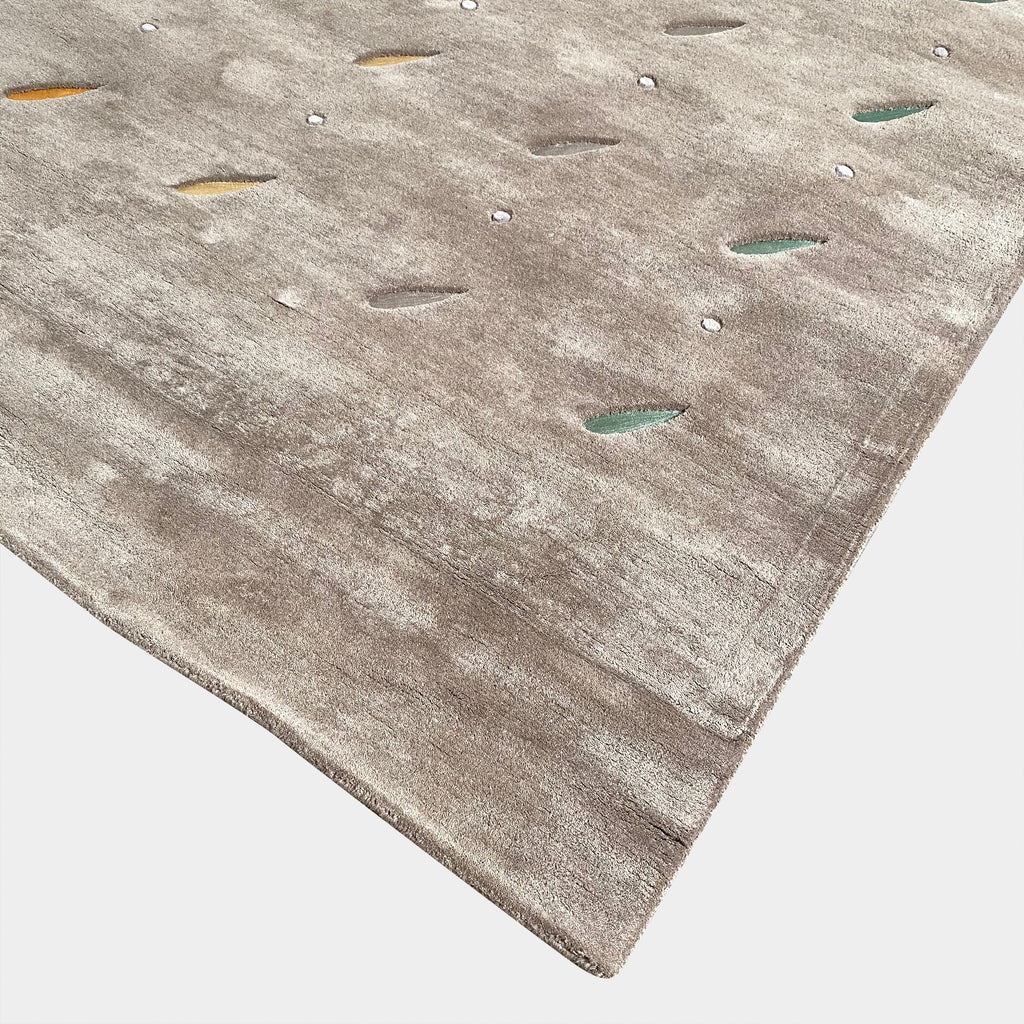 Toulemonde Bochart 'Rain' Wool Rug With Multi-Colored Accents in Rain Drop Shapes