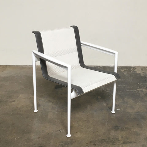 dwr white 1966 collection dining armchair