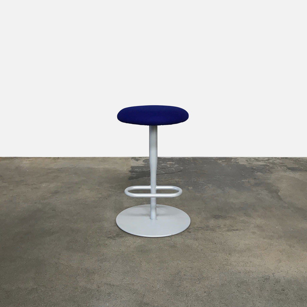 Alias Blue Wool Fabric Atlas Counter Stool by Jasper Morrison | Sale
