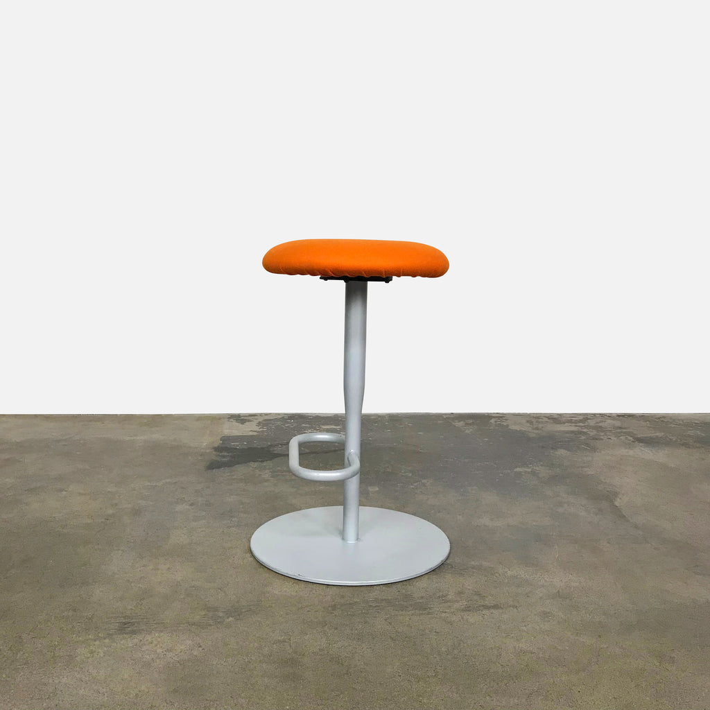 Alias Atlas 756 Orange Wool Fabric Counter Stool by Jasper Morrison