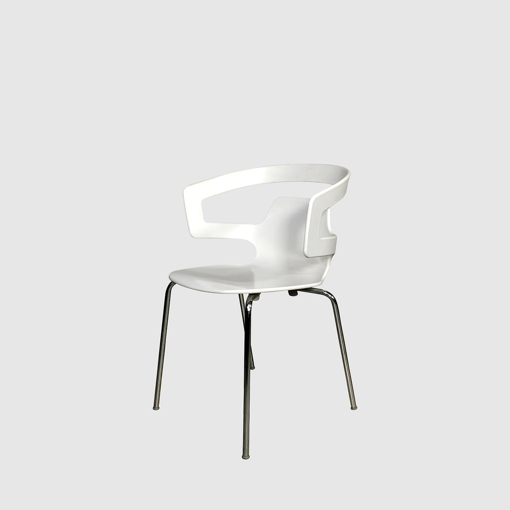 Alias Indoor | Outdoor White Plastic Round Back Armchair