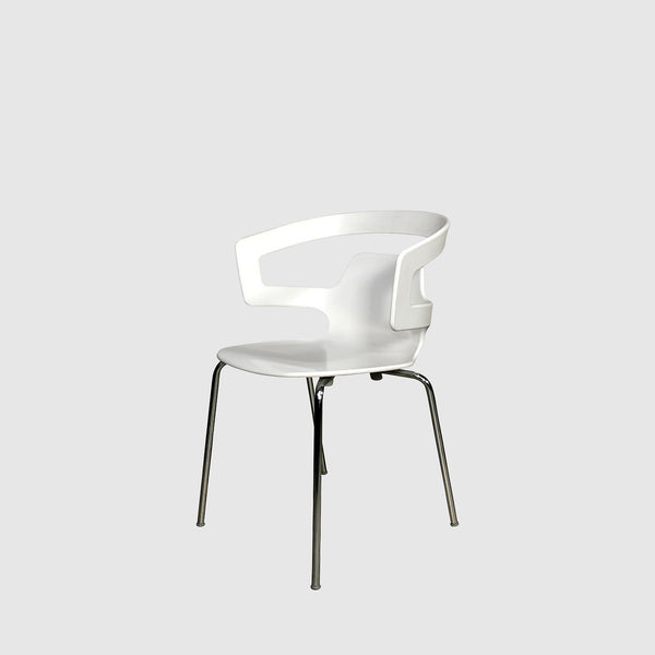 Alias White Round Back Armchair