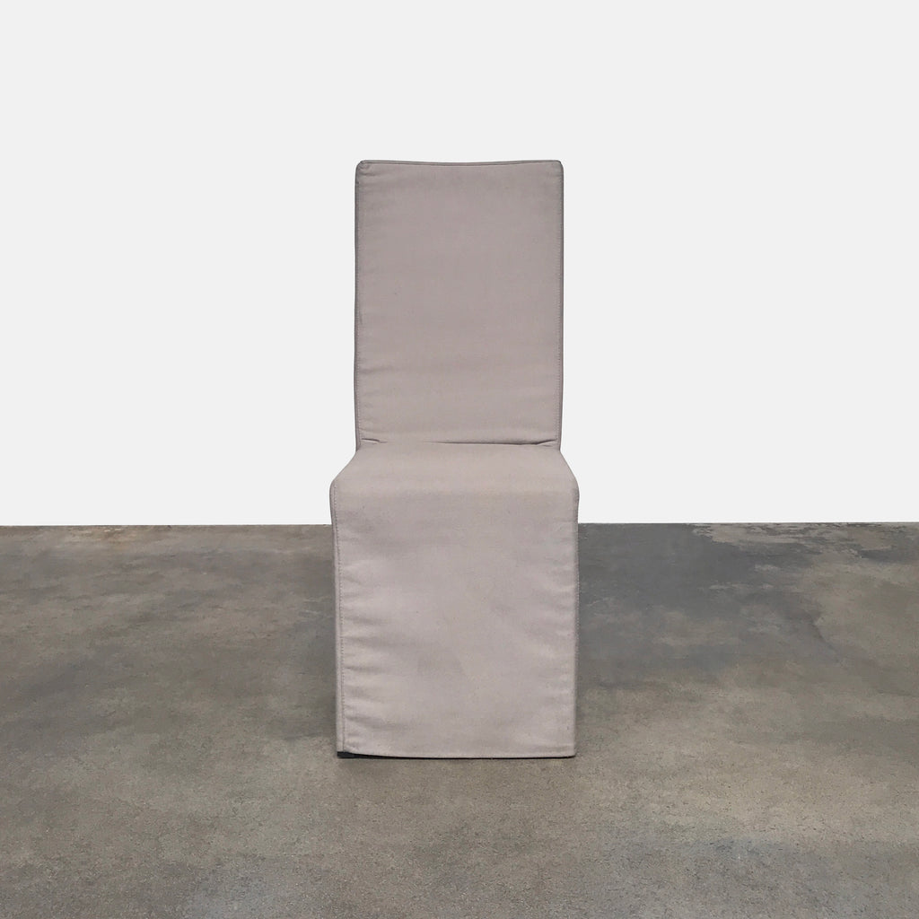 Armani Casa Taupe Linen Dining Chair Contemporary Sleek Design
