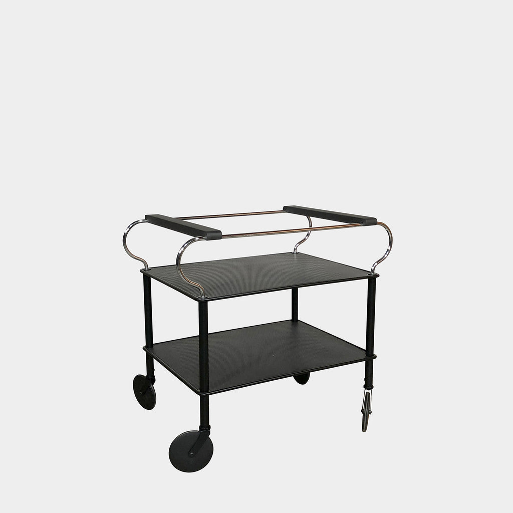 Black Mesh Bar Cart (2 in Stock)