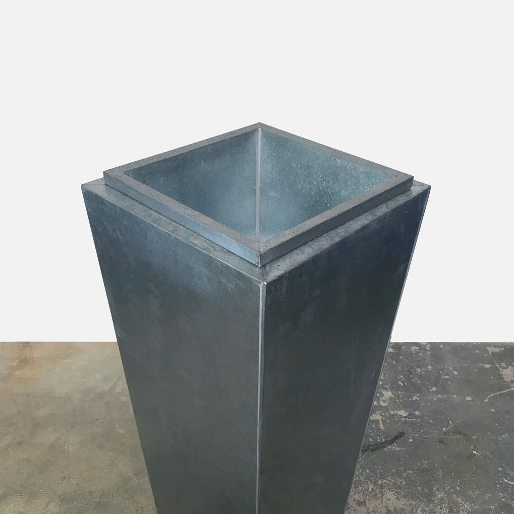 Tall Galvanized Steel Planter (3 in stock)
