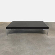 B&B Italia Charles Coffee Table in Black Oak by Antonio Citterio