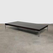 B&B Italia 'Charles' Brown Wood Coffee Table by Antonio Citterio
