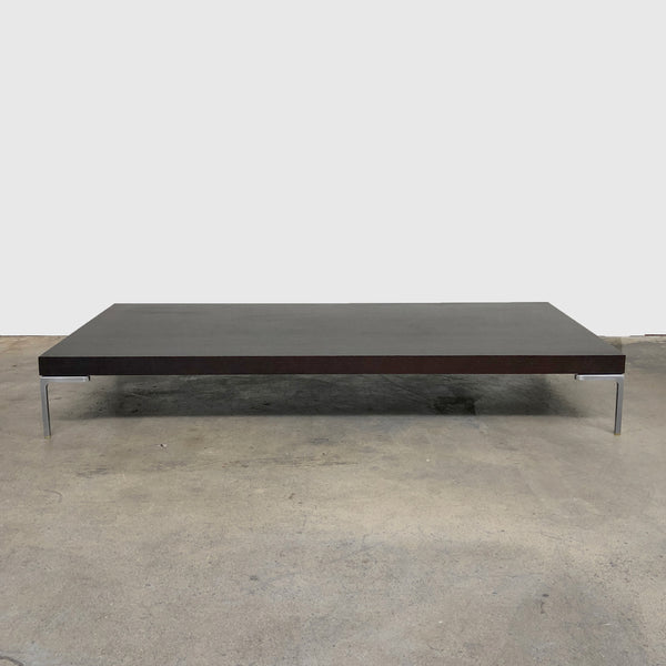 B&B Italia 'Charles' Brown Wood Coffee Table