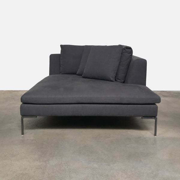 B&B Italia Gray Fabric Charles Large Daybed / Chaise Lounge