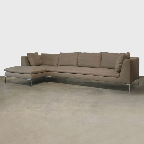 B&B Italia Charles Sectional Neutral Fabric (Short Left Chaise)