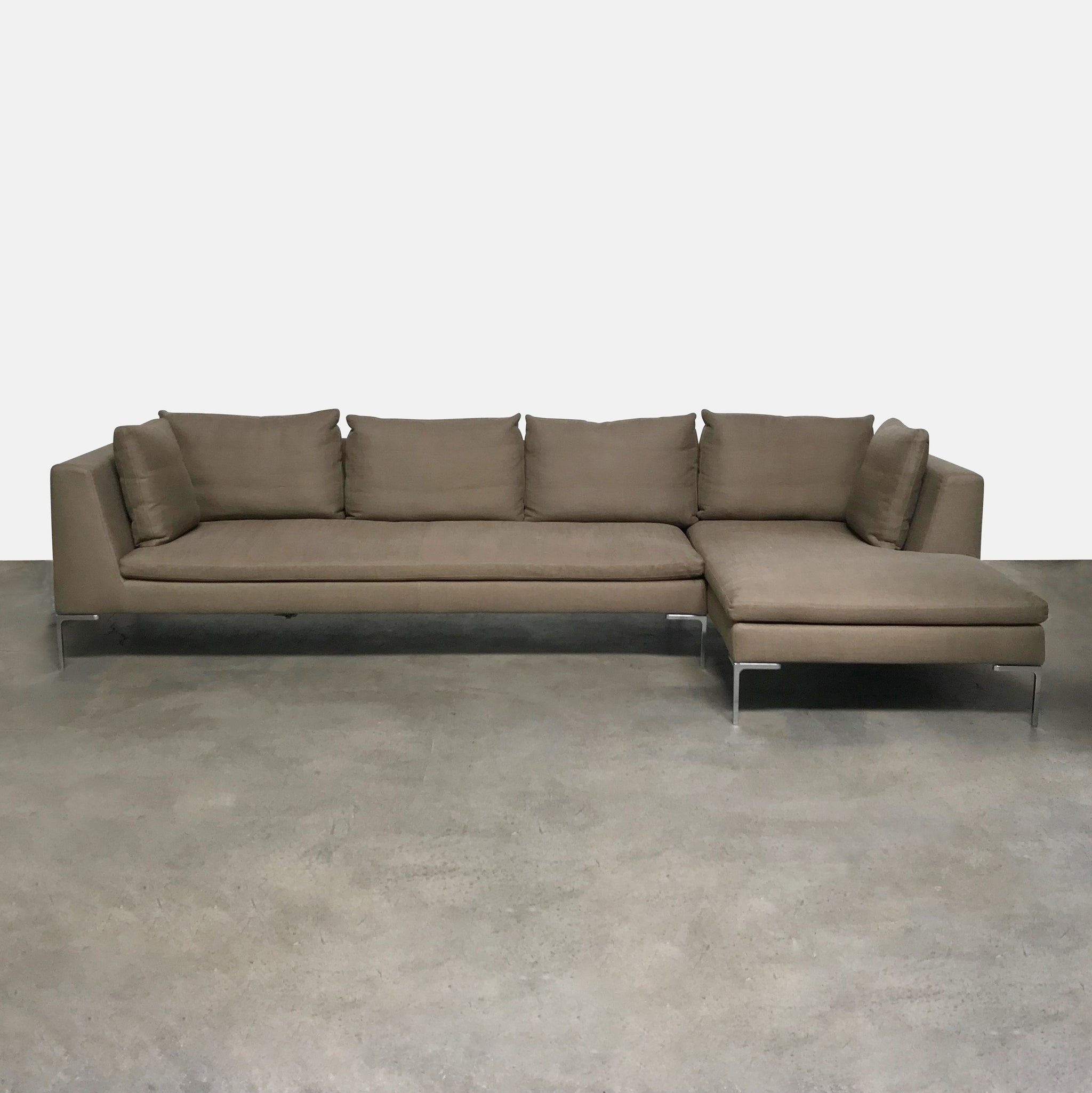 B B Italia Charles Sectional Short Right Chaise Bastia 371 Fabric