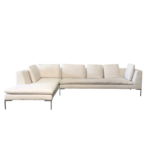 Oatmeal B&B Italia Charles Sectional by Antonio Citterio