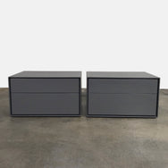 "B&B Italia Gray Glossy 30"" Dado Nightstands by Studio Kairos"