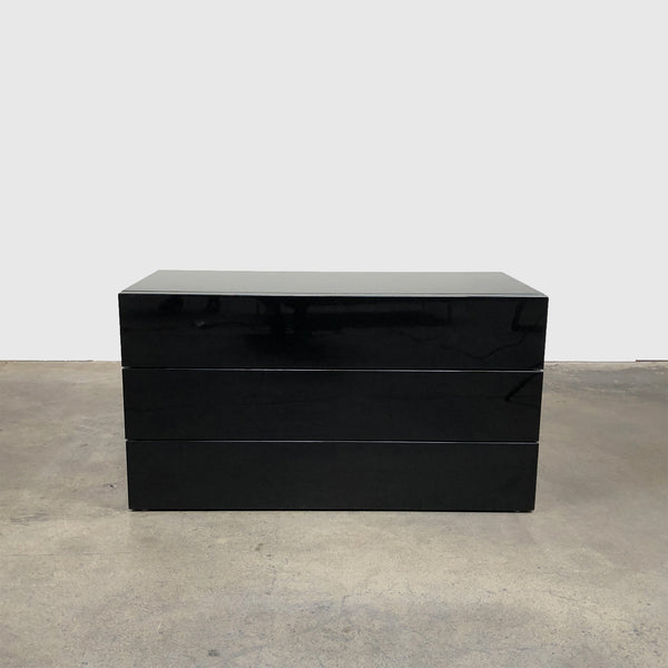 B&B Italia 'Door' Black Lacquer Dresser by Pierro Lissoni