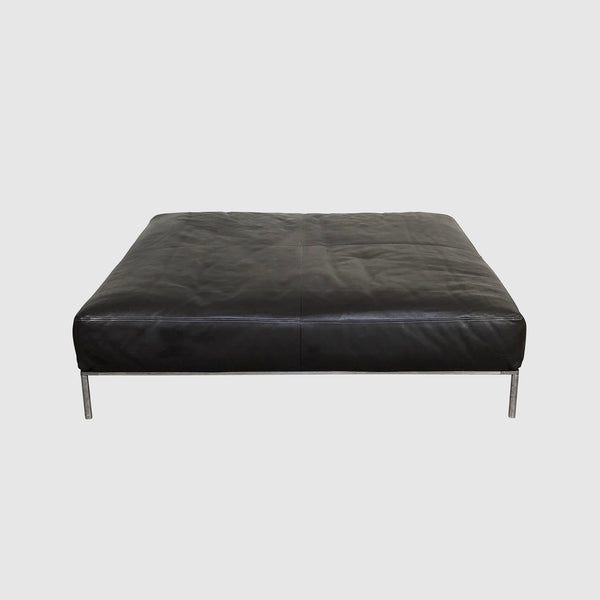 B&B Italia 'Frank' Brown Leather Ottoman by Antonio Citterio