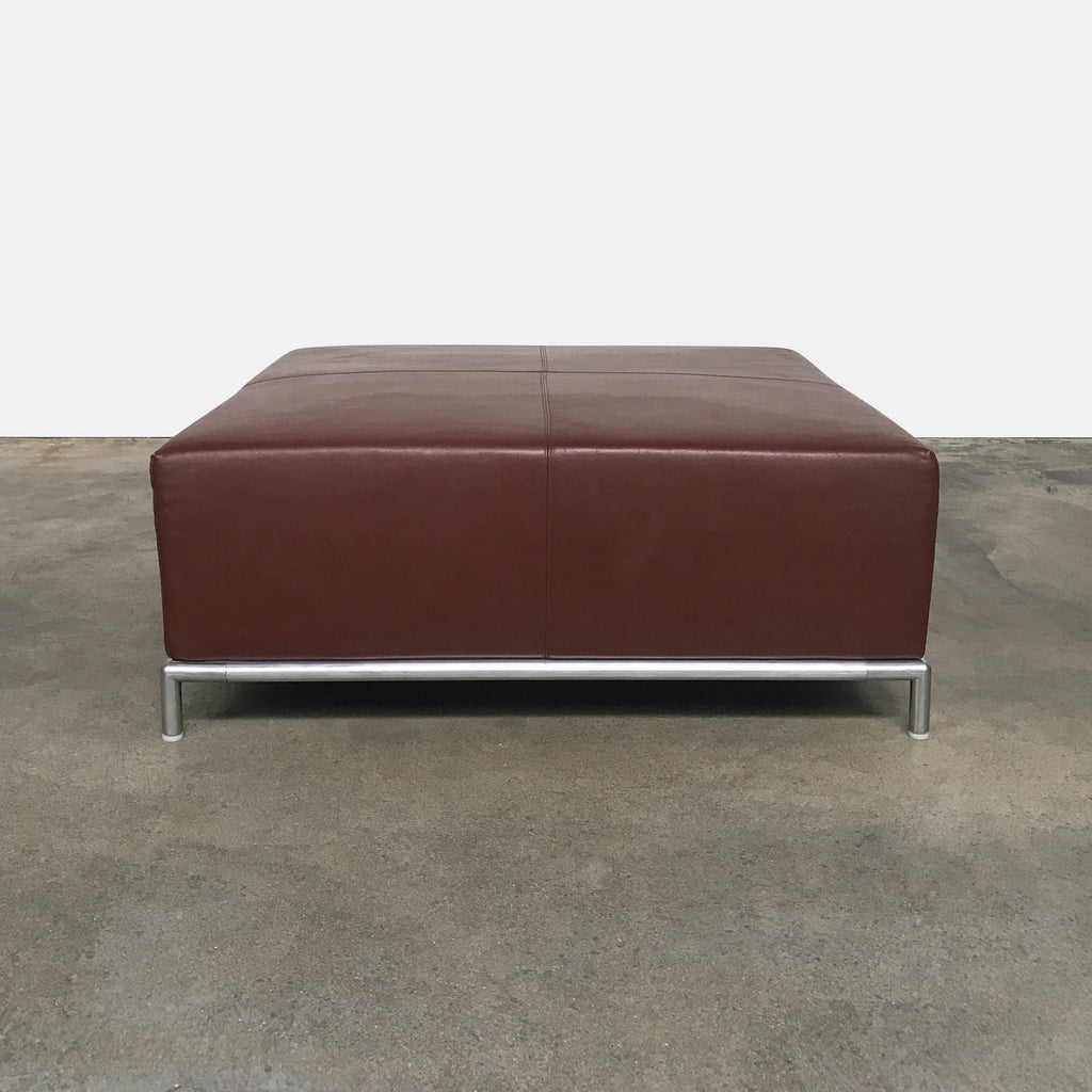 George Leather Ottoman, Ottoman - Modern Resale