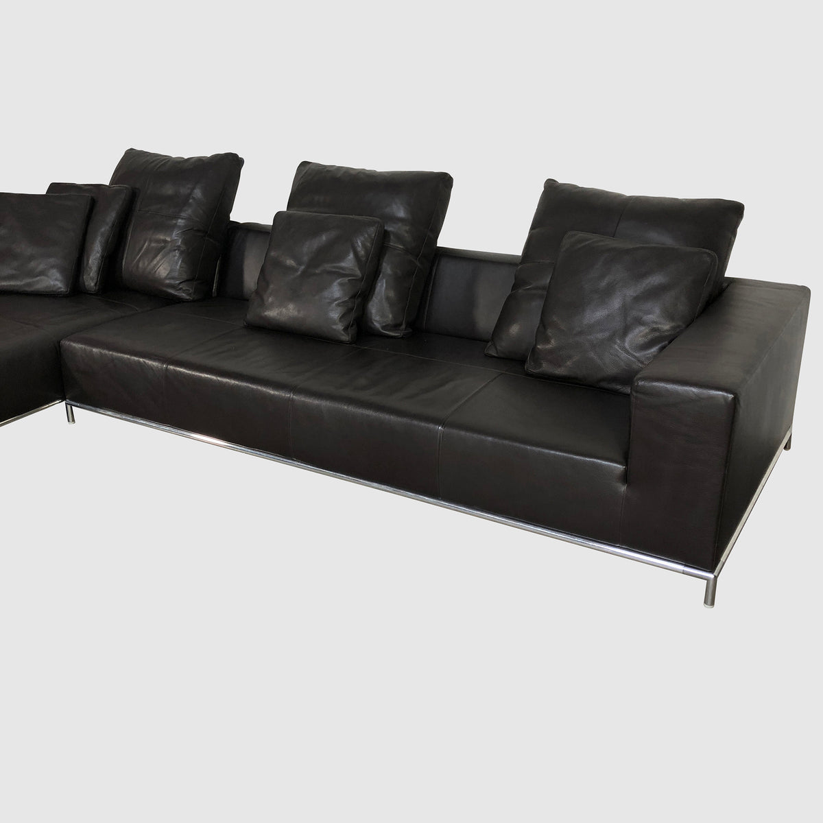 B&B Italia 'George' Dark Brown Leather Sectional by Antonio Citterio