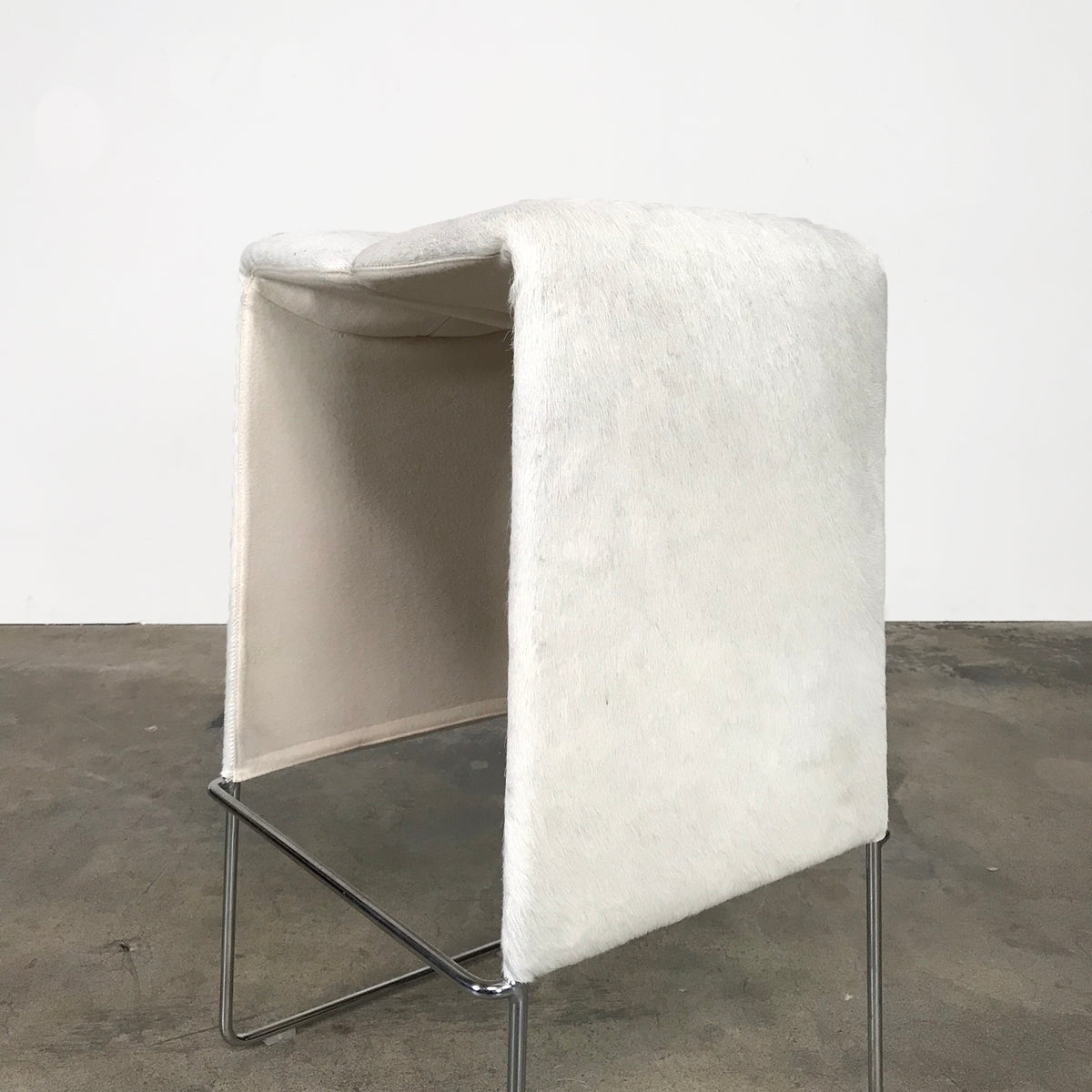 B&B Italia White Pony Pyllon Stool by Nicole Aebischer