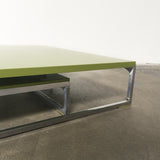 Green B&B Italia Solo Coffee Table Set | Los Angeles | Consignment