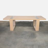 B&B Italia Light Oak Void Dining Table by Patricia Urquiola