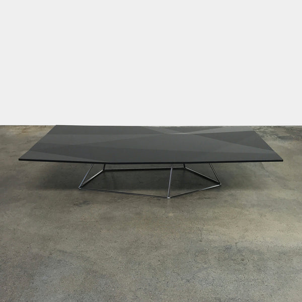 Baleri Italia Black Lacquer Folded Coffee Table by Arik Levy