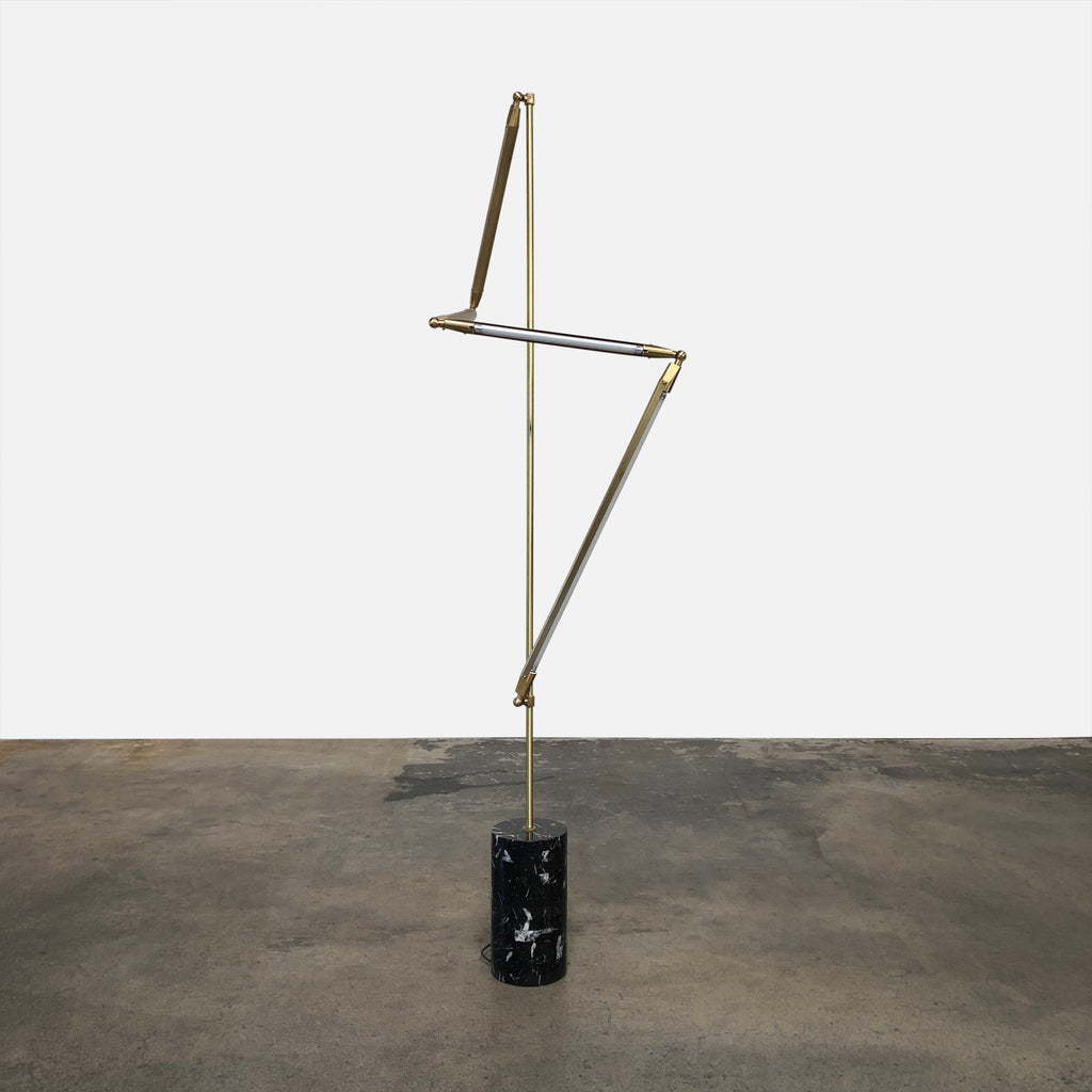 Bec Brittain Helix Floor Lamp with Black Marble Base
