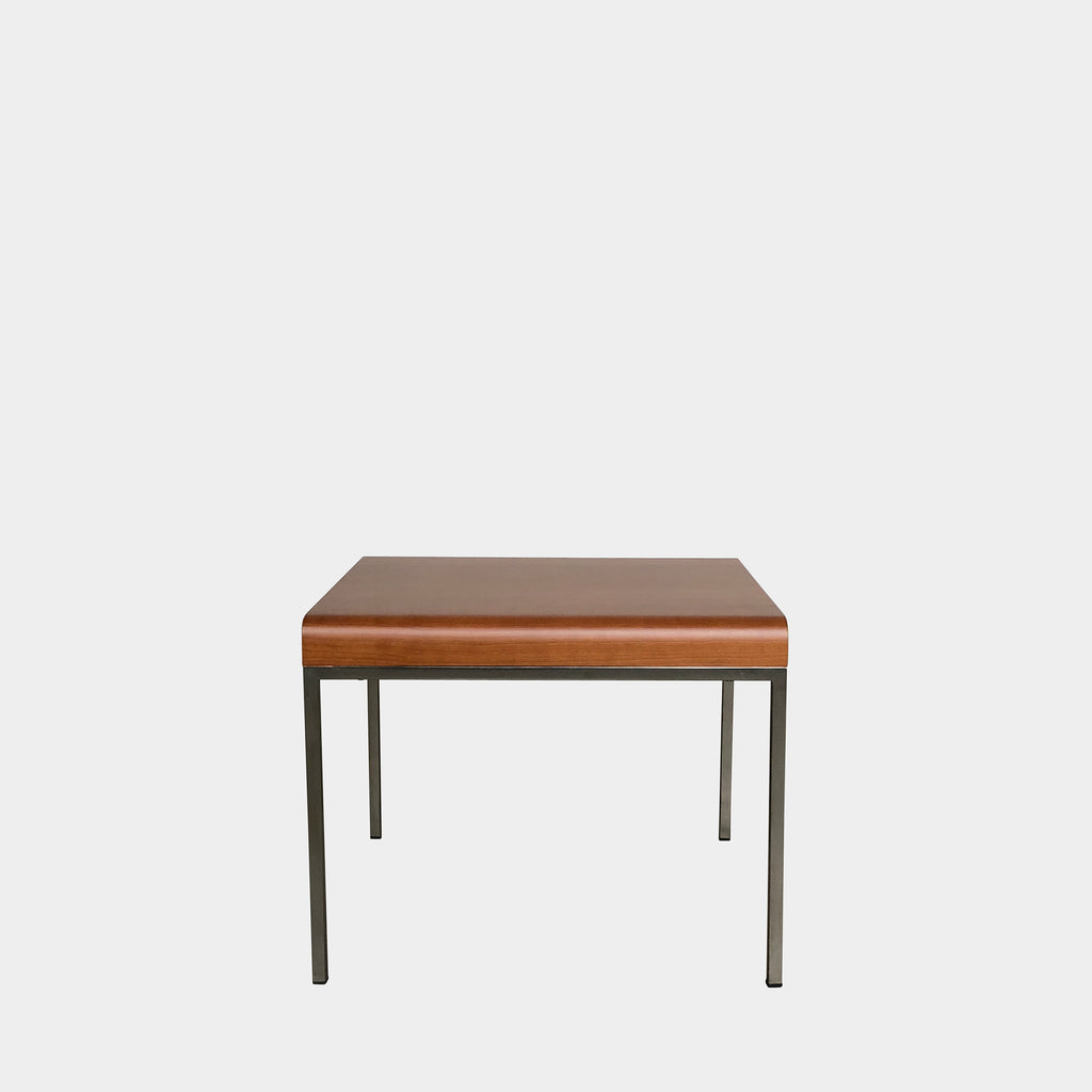 Bellato Cherry wood Curved Side Tables Aluminum Frame