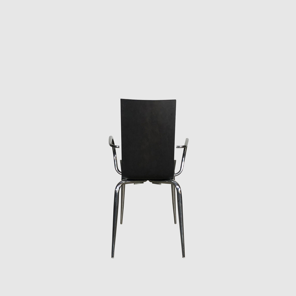 Black Oak Wood & Chrome Dining Chair | Los Angeles | Consignment