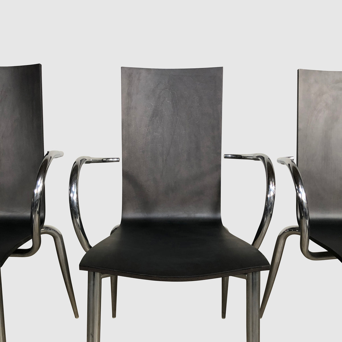 Black Wood & Chrome Dining Chair (4 in stock) - $299 each