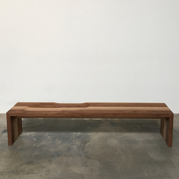 Arco Code Bench by Miriam Van Der Lubbe Walnut with Maple stripes