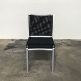 Bontempi Stackable Black Mesh 'Net' Chair by Daniele Molteni