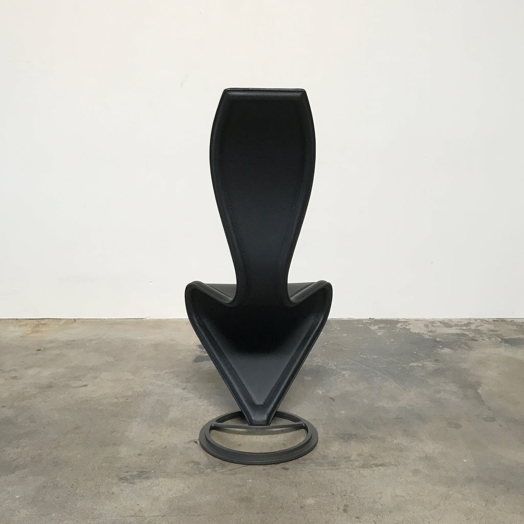 Cappellini Black Leather S Chair by Tom Dixon | Los Angeles
