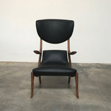 Ceccotti Black Leather Star Trek Chair by Roberto Lazzeroni