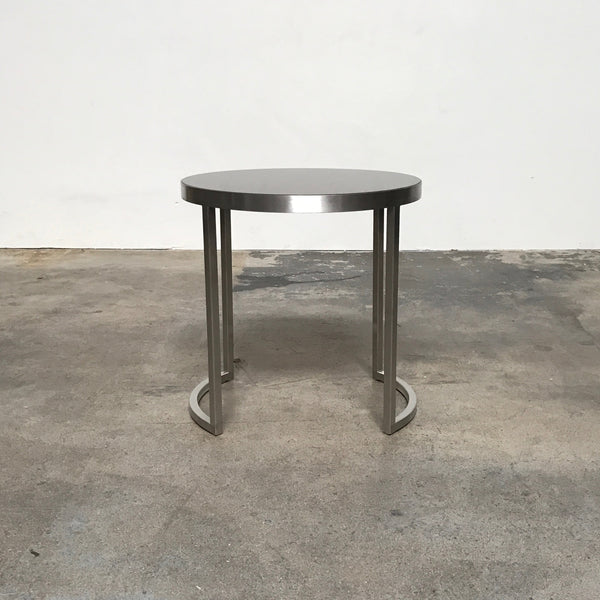 Ligne Roset Chrome Side Table | LA | Consignment