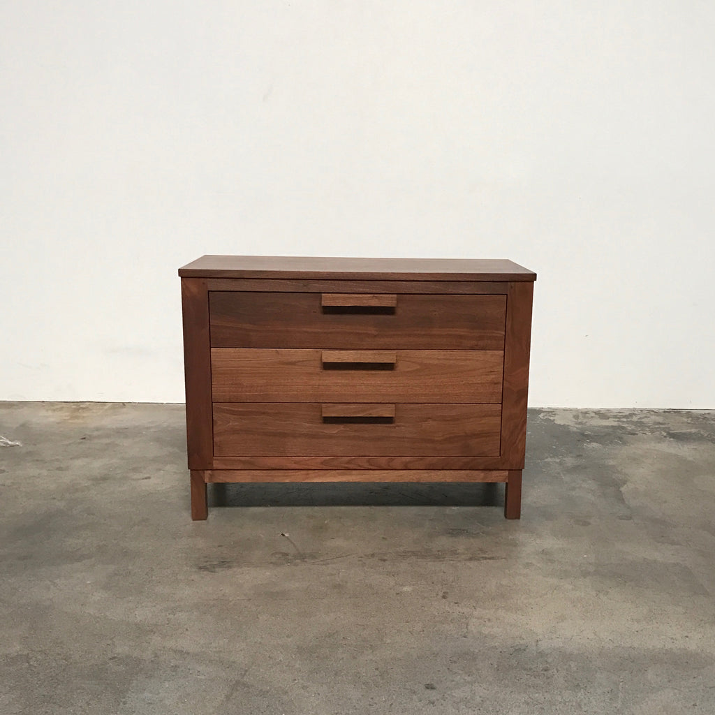 De La Espada Walnut 644 Weekend Three Drawer Chest | Los Angeles