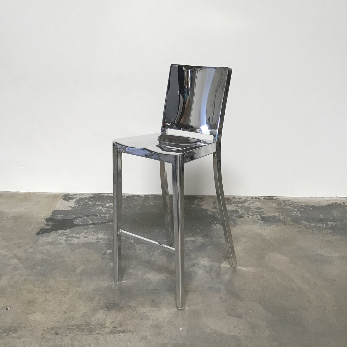 Emeco Polished Hudson Counter Stool by Philippe Starck | Los Angeles
