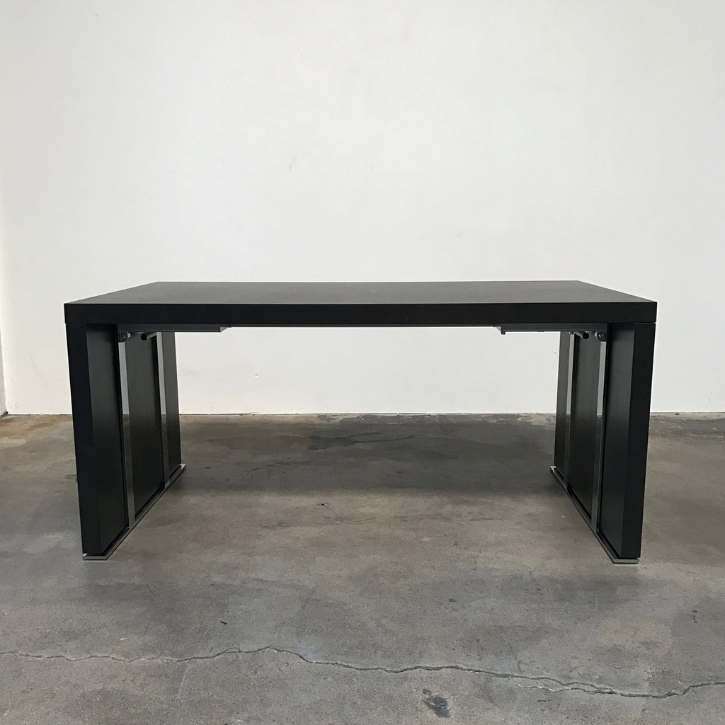 ligne roset dark wood cineline extendable dining table modern resale. Black Bedroom Furniture Sets. Home Design Ideas
