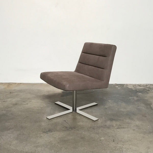 Ligne Roset Taupe Ultra Suede Guggen Chair by Andre Kikoski